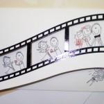 Filmstrip Pozivnice Za Venčanje
